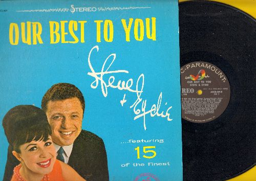 Lawrence, Steve & Eydie Gorme - Our Best To You: Who Wouldn't Love You, I Will Follow You, Pretty Blue Eyes, Going Steady, Sentimental Journey (Vinyl STEREO LP record) - EX8/EX8 - LP Records