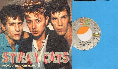 Stray Cats - Look At The Cadillac/Lucky Charm (with picture sleeve) - EX8/EX8 - 45 rpm Records
