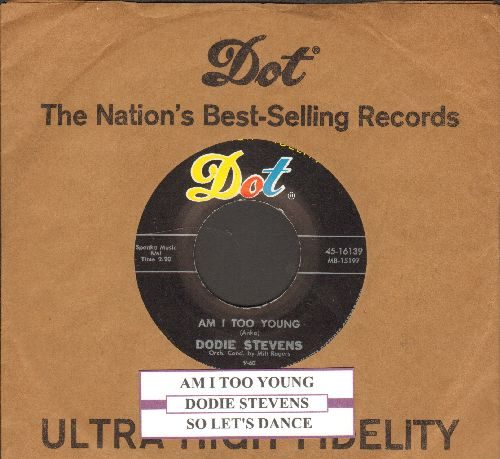 Stevens, Dodie - Am I Too You/So Let's Dance (with juke box label and vinage Dot company sleeve) - NM9/ - 45 rpm Records