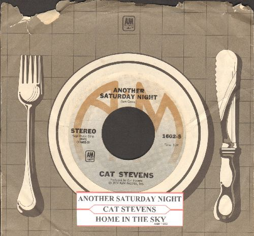 Stevens, Cat - Another Saturday Night/Home In The Sky (with juke box label and company sleeve) - EX8/ - 45 rpm Records