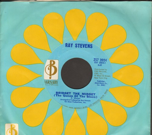 Stevens, Ray - Bridget The Midget (The Queen Of The Blues)/Night People (with RARE Barnaby coimpany sleeve) - NM9/ - 45 rpm Records
