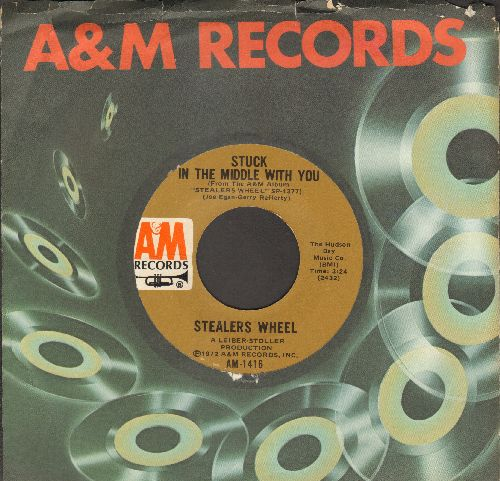 Stealers Wheel  - Stuck In The Middle With You (Theme from -Grace & Frankie-)/Jose (with A&M company sleeve) - NM9/ - 45 rpm Records