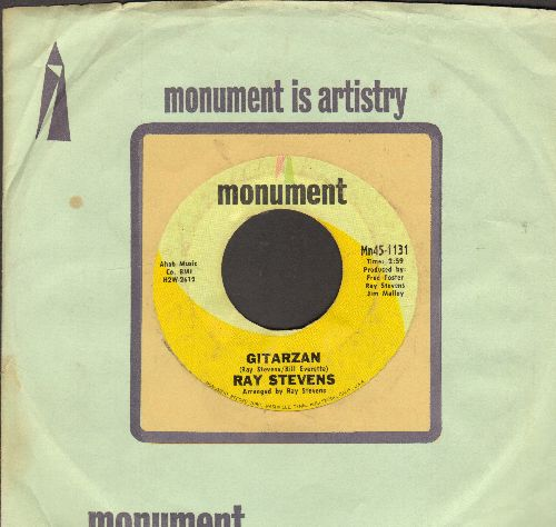 Stevens, Ray - Gitarzan/Bagpipes - That's My Bag (with Monument company sleeve) - VG7/ - 45 rpm Records