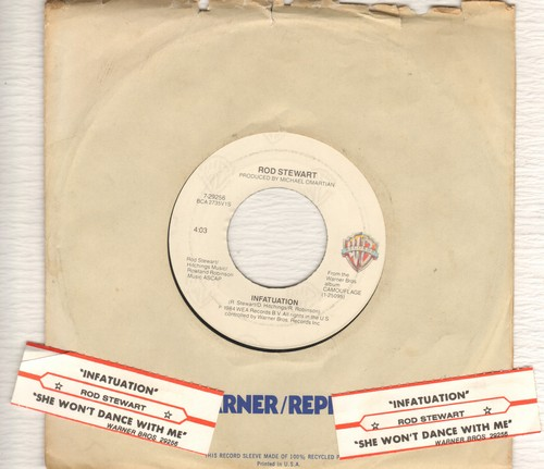 Stewart, Rod - Infatuation/She Won't Dance With Me (with juke box label) - EX8/ - 45 rpm Records