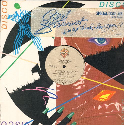 Stewart, Rod - Da Ya Think I'm Sexy? (6:29 minutes Extended Disco Version)/Scarred And Scared (4:50 minutes) (12 inch vinyl MAXI Single with Original Cover) - NM9/EX8 - Maxi Singles