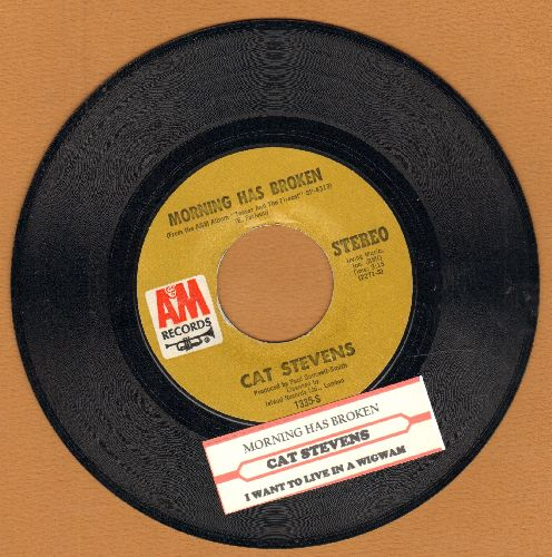Stevens, Cat - Morning Has Broken/I Want To Live In A Wigwam (with juke box label) - NM9/ - 45 rpm Records