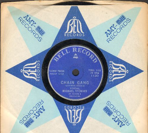 Stewart, Michael with Sy Oliver & Orchestra - Chain Gamg/Moritat (7 inch 78rpm record with vintage Bell company sleeve) - VG6/ - 45 rpm Records