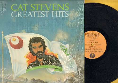 Stevens, Cat - Greatest Hits: Peace Train, Wild World, Morning Has Broken, Moonshadow, Father & Son (Vinyl LP record) - NM9/NM9 - LP Records