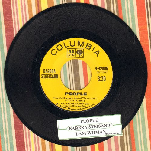 Streisand, Barbra - People/I Am Woman (with juke box label) - EX8/ - 45 rpm Records