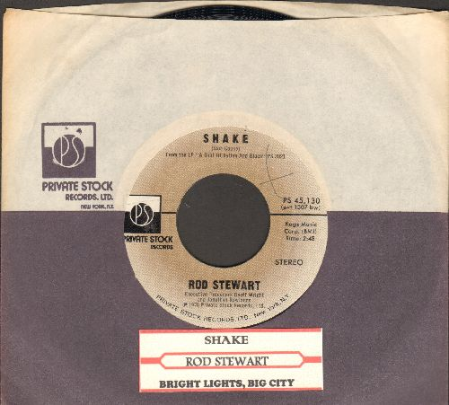 Stewart, Rod - Shake/Bright Lights, Big City (with juke box label and Private Stock company sleeve) - NM9/ - 45 rpm Records