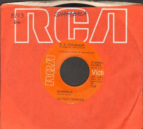 Stevenson, B. W. - Shambala/My Feet Are So Waery (with RCA company sleeve) - EX8/ - 45 rpm Records
