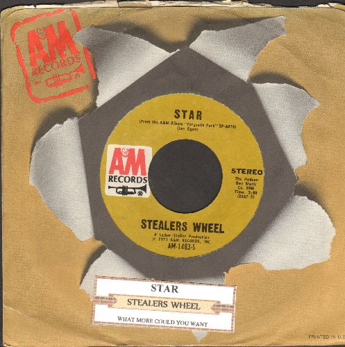 Stealers Wheel  - Star/What More Coul You Want (with A&M company sleeve and juke box label) - NM9/ - 45 rpm Records