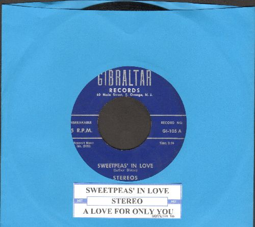 Stereos - Sweetpea's In Love/A Love For Only You (with juke box label) - EX8/ - 45 rpm Records