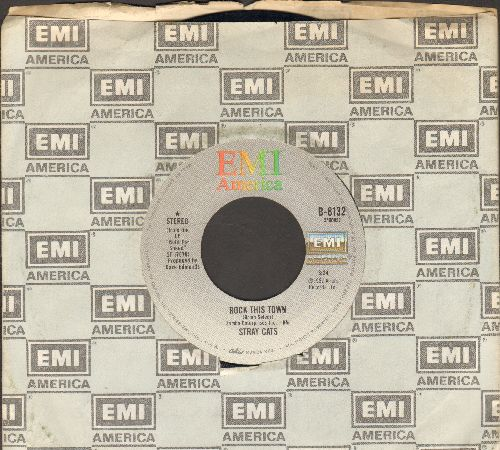 Stray Cats - Rock This Town/You Can't Hurry Love (with EMI company sleeve) - EX8/ - 45 rpm Records