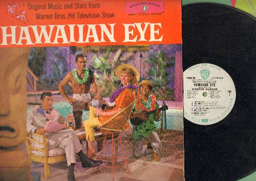 Stevens, Connie - Hawaiian Eye - Original Music and Stars from Hit Television Series (vinyl LP record, RARE Vitaphonic DJ advance pressing!) - VG7/VG7 - LP Records