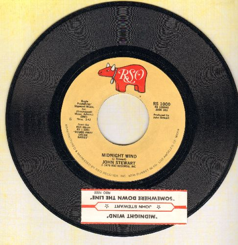 Stewart, John - Midnight Wind/Somewhere Down The Line (with juke box label) - NM9/ - 45 rpm Records