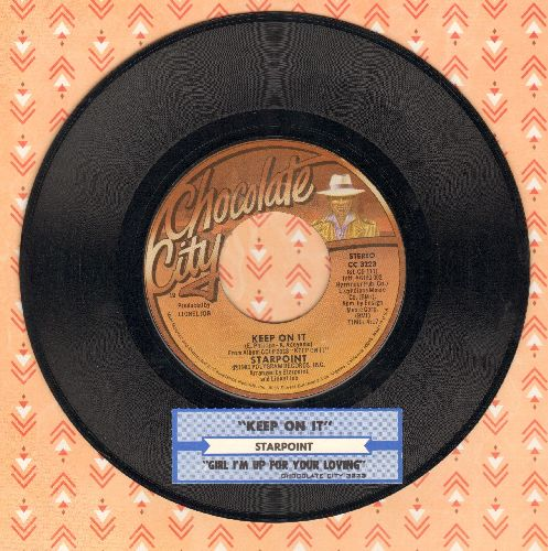 Starpoint - Keep On It/Girl I'm Up For Your Lovin' (with juke box label) - NM9/ - 45 rpm Records