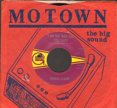 Starr, Edwin - I Am The Man For You Baby/My Weakness Is You (RARE Motown 2-Sider!) - EX8/ - 45 rpm Records