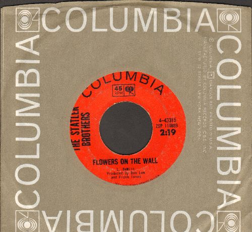 Statler Brothers - Flowers On The Wall/Billy Christian (with Columbia company sleeve) - VG7/ - 45 rpm Records