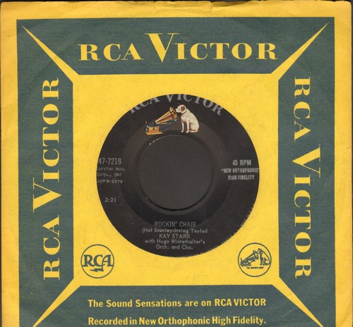 Starr, Kay - Rockin' Chair/Stroll Me (with RCA company sleeve) - EX8/ - 45 rpm Records