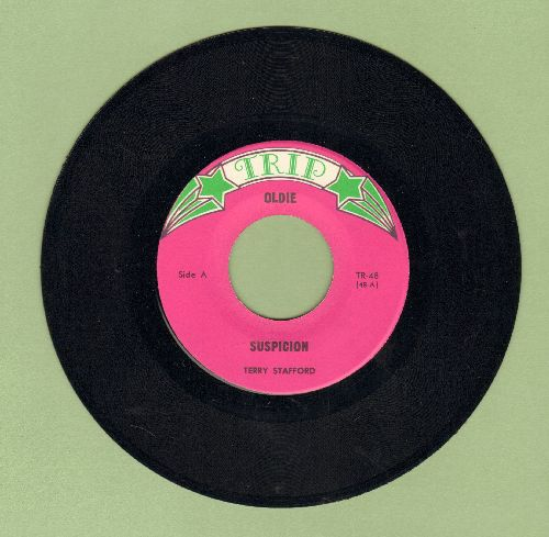 Stafford, Terry - Suspicion/This Time (by Troy Shondell on flip-side) (re-issue) - NM9/ - 45 rpm Records