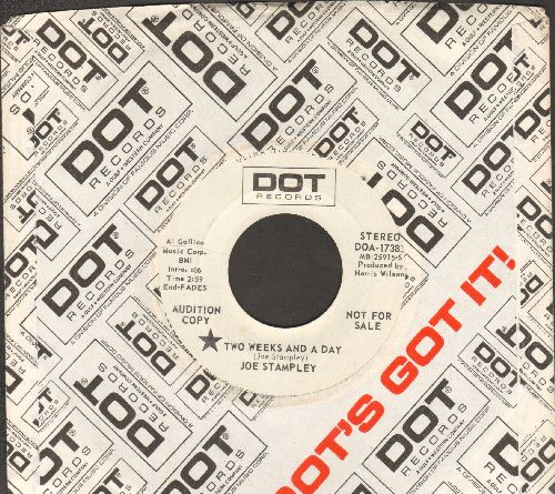Stampley, Joe - Two Weeks And A Day/Can You Imagine How I Feel (DJ advance pressing with Dot company sleeve) - NM9/ - 45 rpm Records