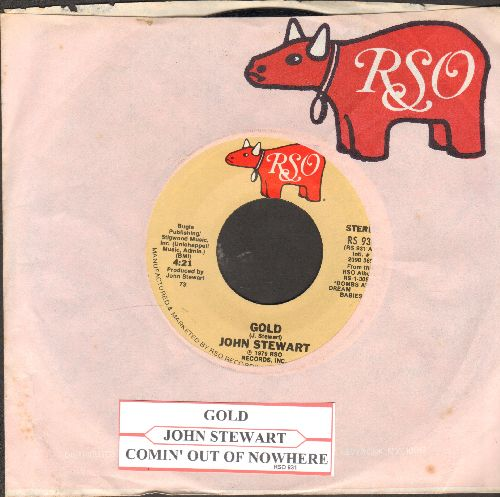 Stewart, John - Gold/Comin' Out Of Nowhere (with juke box label and RSO company sleeve) - NM9/ - 45 rpm Records