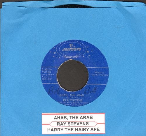 Stevens, Ray - Ahab, The Arab/Harry The Hairy Ape (double-hit re-issue with juke box label) - EX8/ - 45 rpm Records
