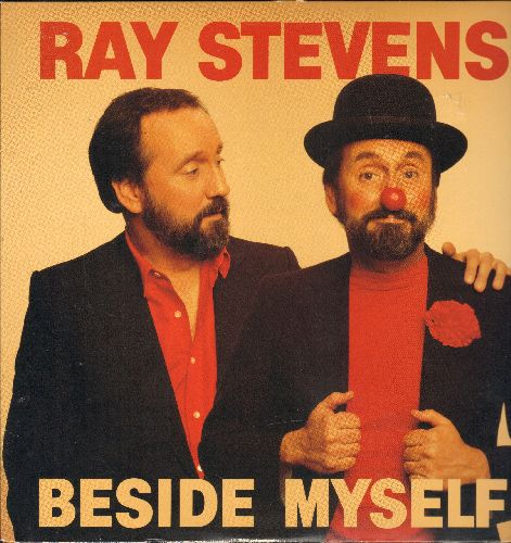 Stevens, Ray - Beside Myself: Your Bozo's Back Again, Another Fine Mess, I Saw Elvis In A U.F.O., I Used To Be Crazy, The Woogie Boogie (vinylLP record, DJ advance pressing) - NM9/NM9 - LP Records