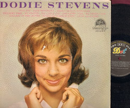Stevens, Dodie - Dodie Stevens: Only You, Poor Butterfly, Smoke Gets In Your Eyes, Twilight Time, My Prayer, Cry (Vinyl MONO LP record) (tape on cover) - EX8/VG6 - LP Records