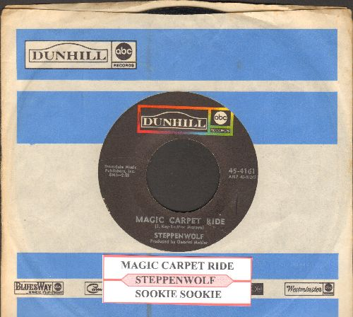 Steppenwolf - Magic Carpet Ride (with juke box label and Dunhill company sleeve) - VG7/ - 45 rpm Records