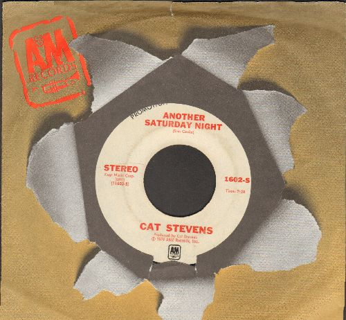 Stevens, Cat - Another Saturday Night (double-A-sided DJ advance pressing with A&M company sleeve) - VG7/ - 45 rpm Records