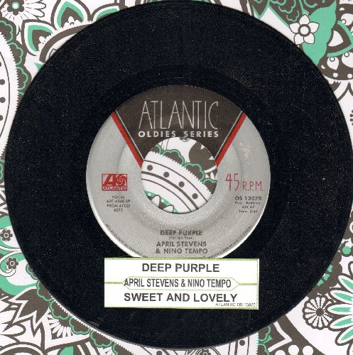 Tempo, Nino & April Stevens - Deep Purple/Sweet And Lovely (double-hit re-issue with juke box label) - NM9/ - 45 rpm Records
