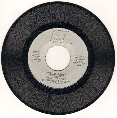 Stewart, Dave & Barbara Baskin - It's My Party (Althernative Rock version of Lesey Gore Teen Idol Favorite!)/Waiting In The Wings (British Pressing with picture sleeve) - NM9/ - 45 rpm Records