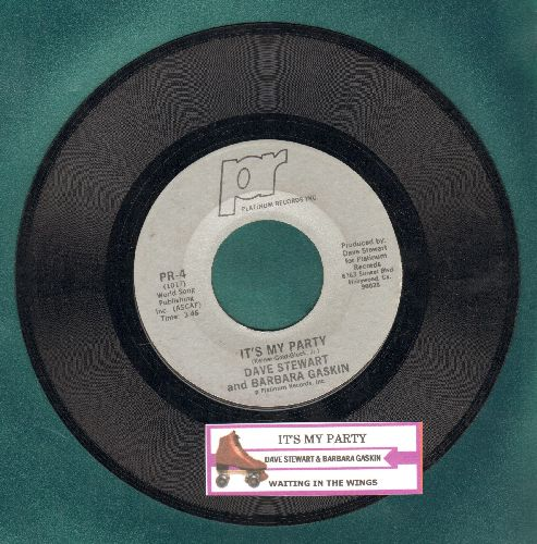 Stewart, Dave & Barbara Baskin - It's My Party (Althernative Rock version of Lesey Gore Teen Idol Favorite!)/Waiting In The Wings (with juke box label) - EX8/ - 45 rpm Records