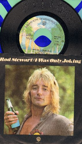 Stewart, Rod - I Was Only Joking/Born Loose (with picture sleeve) - NM9/NM9 - 45 rpm Records