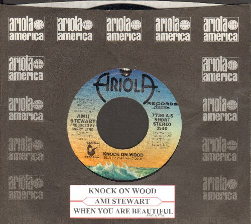 Stewart, Amii - Knock On Wood/When You Are Beautiful (with Ariola company sleeve and juke box label) - NM9/ - 45 rpm Records