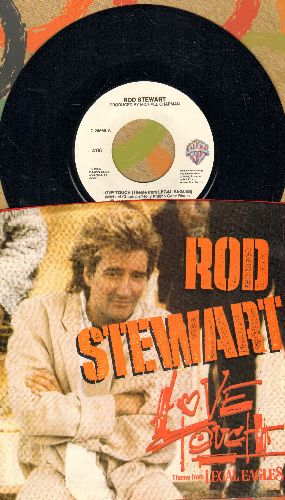 Stewart, Rod - Love Touch (from film -Legal Eagles-/Heart Is On The Line (with picture sleeve) - NM9/NM9 - 45 rpm Records