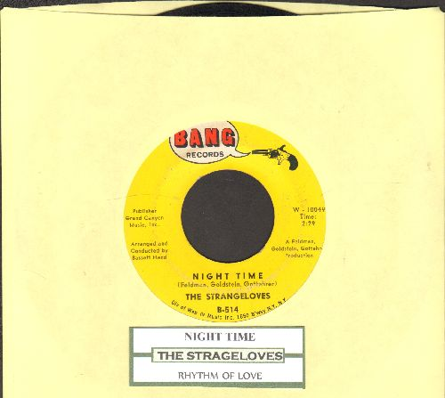 Strangeloves - Night Time/Rhythm Of Love (with juke box label) - VG7/ - 45 rpm Records