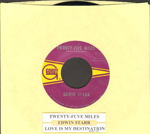 Starr, Edwin - Twenty-Five Miles/Love Is My Destination (with juke box label) - EX8/ - 45 rpm Records