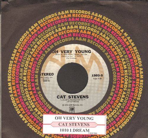 Stevens, Cat - Oh Very Young/100 I Dream (with juke box label and A&M company sleeve) - NM9/ - 45 rpm Records