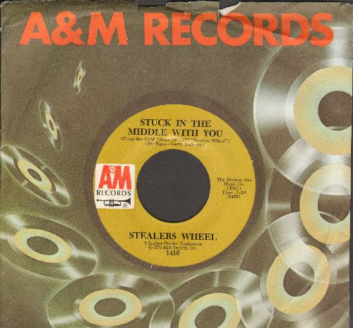 Stealers Wheel - Stuck In The Middle With You (featured in Netflix Series -Grace & Frankie-)/Jose (with A&M company sleeve) - NM9/ - 45 rpm Records