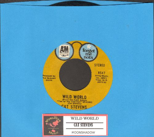 Stevens, Cat - Wild World/Moonshadow (double-hit re-issue with juke box label) - NM9/ - 45 rpm Records