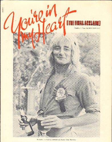 Stewart, Rod - You're In My Heart (You're In My Soul) - Vintage SHEET MUSIC for the Rod Stewart Classic. - EX8/ - Sheet Music