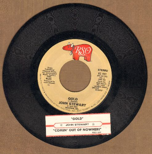 Stewart, John - Gold/Comin' Out Of Nowhere (with juke box label) - NM9/ - 45 rpm Records
