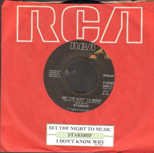 Starship - Set The Night To Music/I Don't Know Why - EX8/ - 45 rpm Records