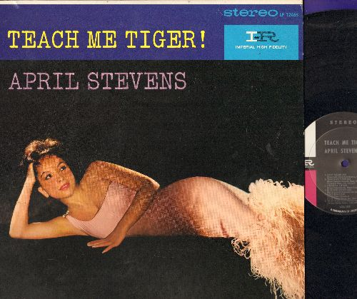 Stevens, April - Teach Me Tiger!: Do It Again, Talk To Me, When My Baby Smiles At Me (vinyl STEREO LP record, 1960 first pressing) - NM9/NM9 - LP Records