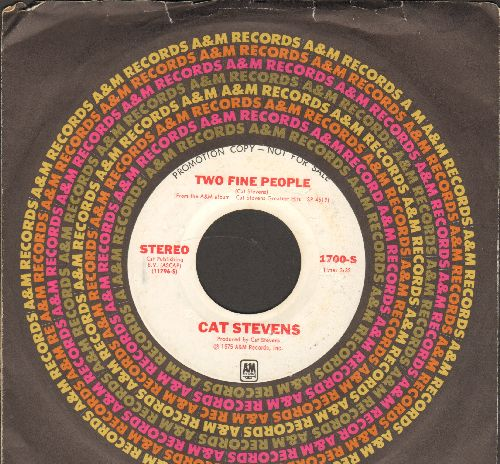 Stevens, Cat - Two Fine People (double-A-sided DJ advance pressing with MONO and STEREO version, with company sleeve) - NM9/ - 45 rpm Records