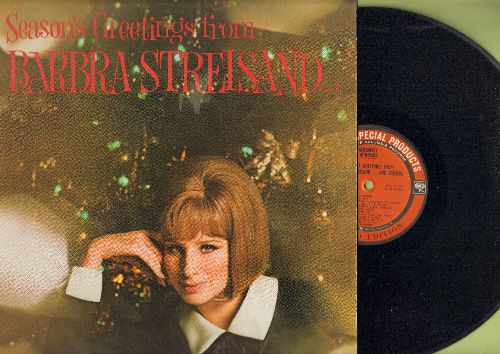 Streisand, Barbra - Seasons Greetings from Barbra Streisand…and Friends: Ave Maria, Silver Bells, O Holy Night, The Christmas Song (Vinyl STEREO LP record, Maxwell House Special Products) - NM9/NM9 - LP Records
