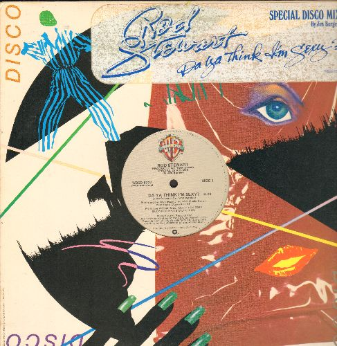 Stewart, Rod - Da Ya Think I'm Sexy? (6:29 minutes Extended Disco Version)/Scarred And Scared (4:50 minutes) (12 inch vinyl MAXI Single with Original Cover) - NM9/ - Maxi Singles